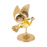 Table Deco - Dove Crystal Figurine Standard / Gold | Crystocraft Online Shop