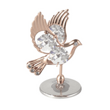 Table Deco - Dove Crystal Figurine Standard / Rose Gold | Crystocraft Online Shop