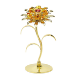 Table decorate - Large Sunflower Crystal Figurine Gold with Topaz crystal / Standard | Crystocraft Online Shop