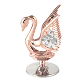Table Deco - Mini Crystal Swan Figurine Rose Gold / Standard | Crystocraft Online Shop