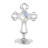 Table Deco - Mini Crystal Cross Figurine Chrome / Standard | Crystocraft Online Shop