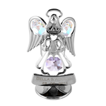 Table Deco - Guardian Angel Heart Crystal Figurine Chrome | Crystocraft Online Shop