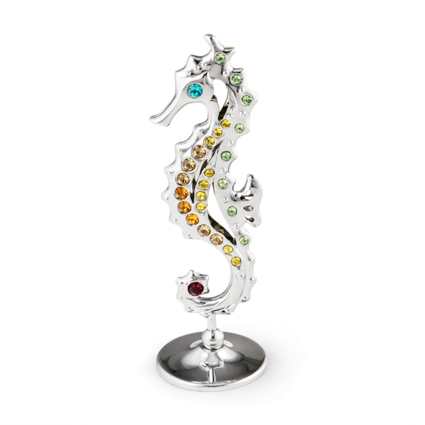 Table Deco - Seahorse Figurine Chrome / Standard | Crystocraft Online Shop