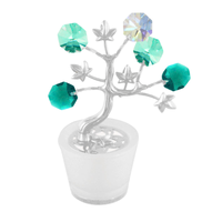 Table decorate - Crystal Tree Figurine Chrome | Crystocraft Online Shop