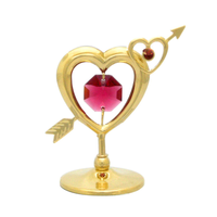 Table Deco - Mini Hearts with Arrow Crystal Figurine Standard | Crystocraft Online Shop