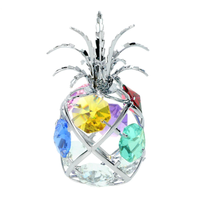Table decorate - Pineapple Crystal Figurine Chrome | Crystocraft Online Shop