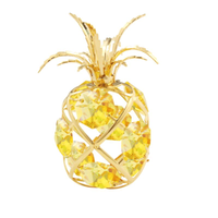 Table decorate - Pineapple Crystal Figurine Gold | Crystocraft Online Shop