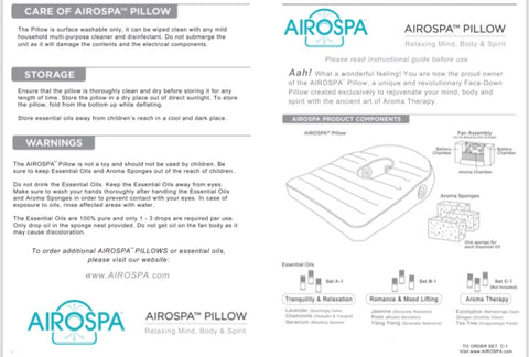 Page - AIROSPA PILLOW