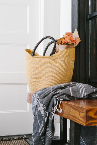 hom & co shop turkish towel market basket