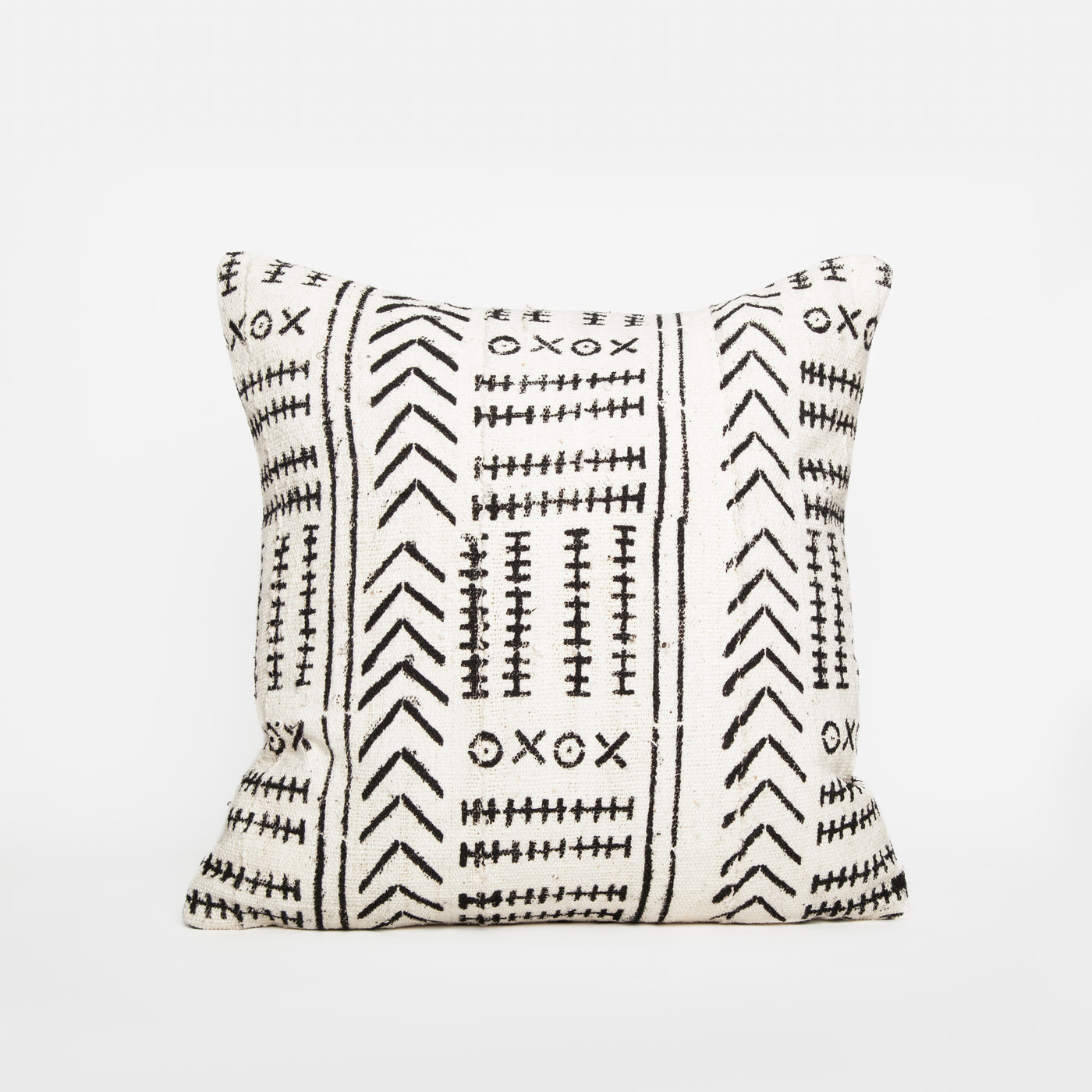 Hom & Co | coussin mudcloth vintage | mudcloth pillow black white