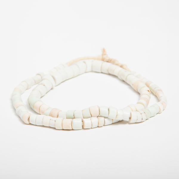 recycled glass beads beige