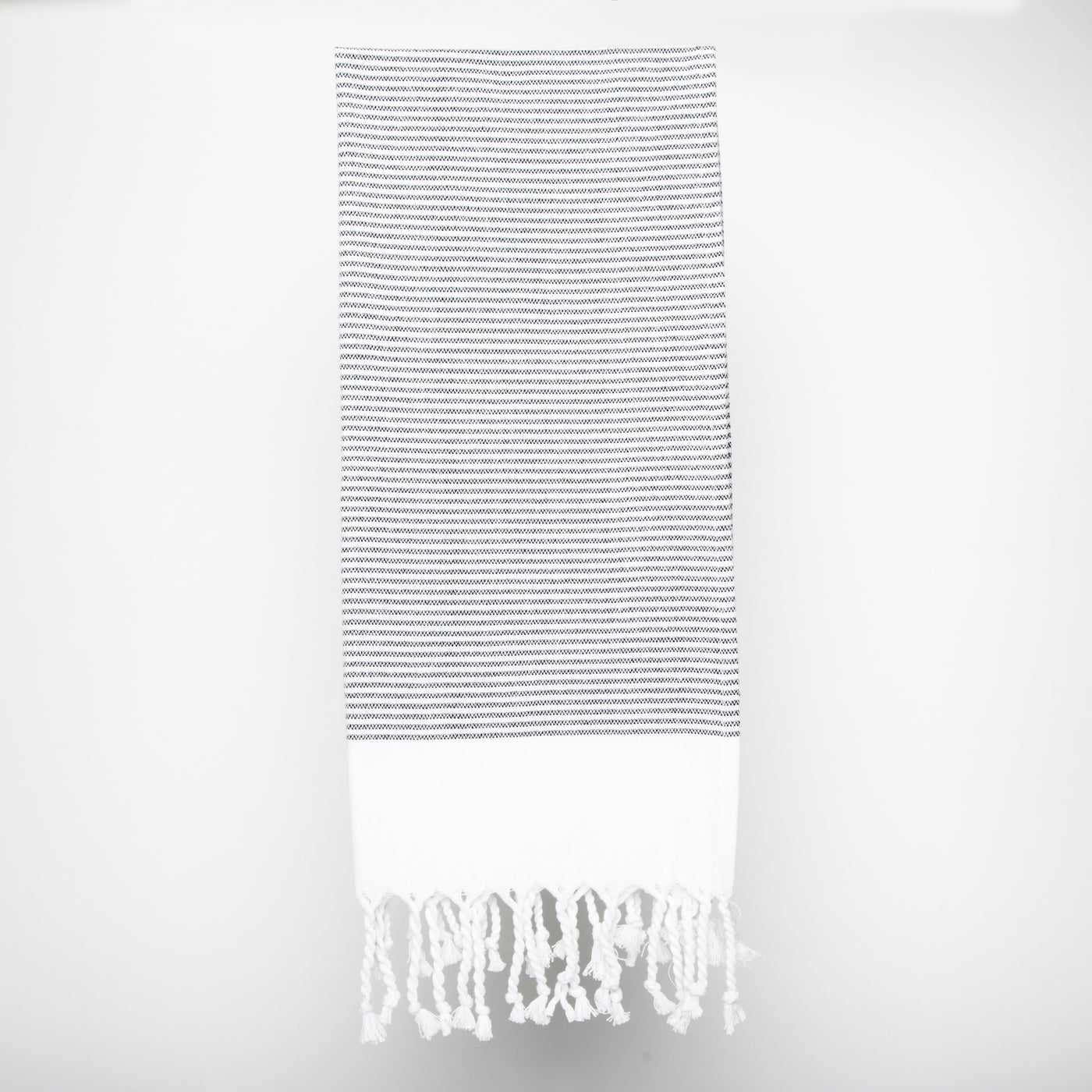 peshtamal turkish towel gris et blanc serviette à main