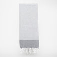 peshtamal turkish towel blanc et gris serviette à main