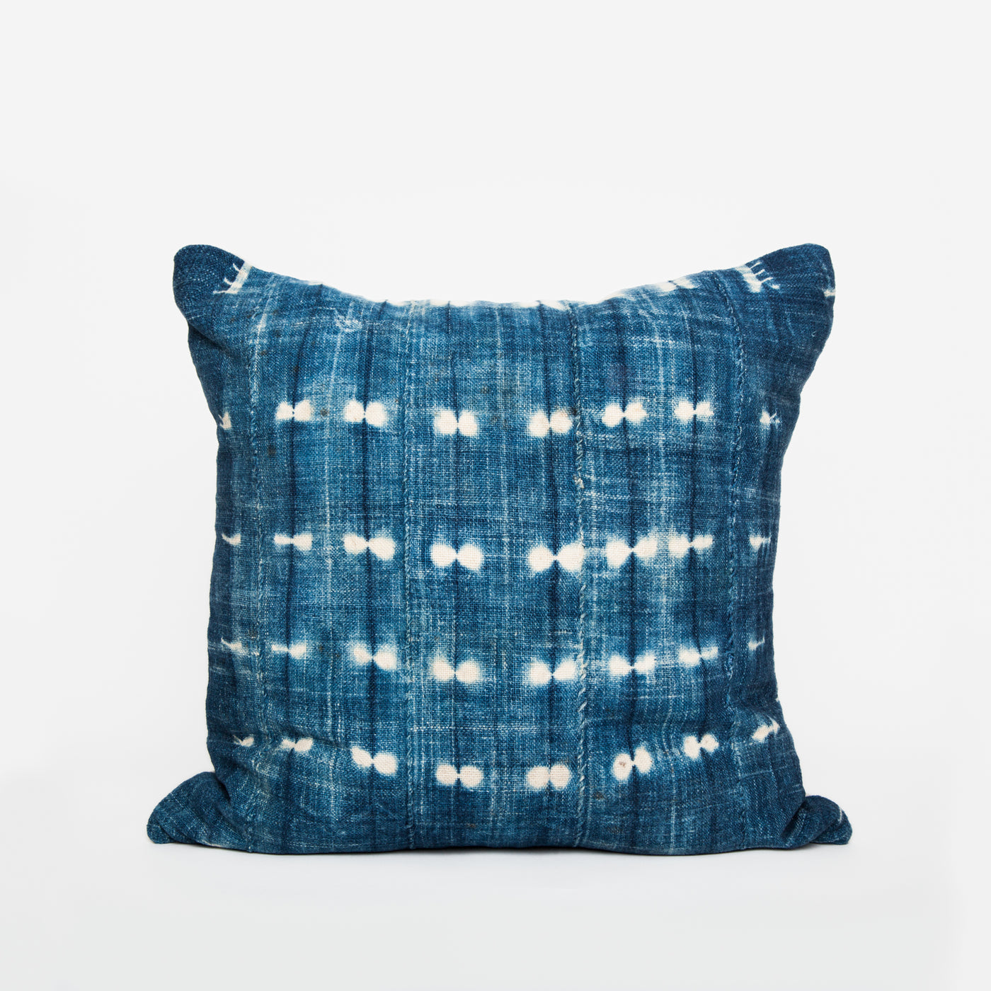Hom & Co | coussin mudcloth vintage indigo | vitage mudcloth pillow blue boho home decor