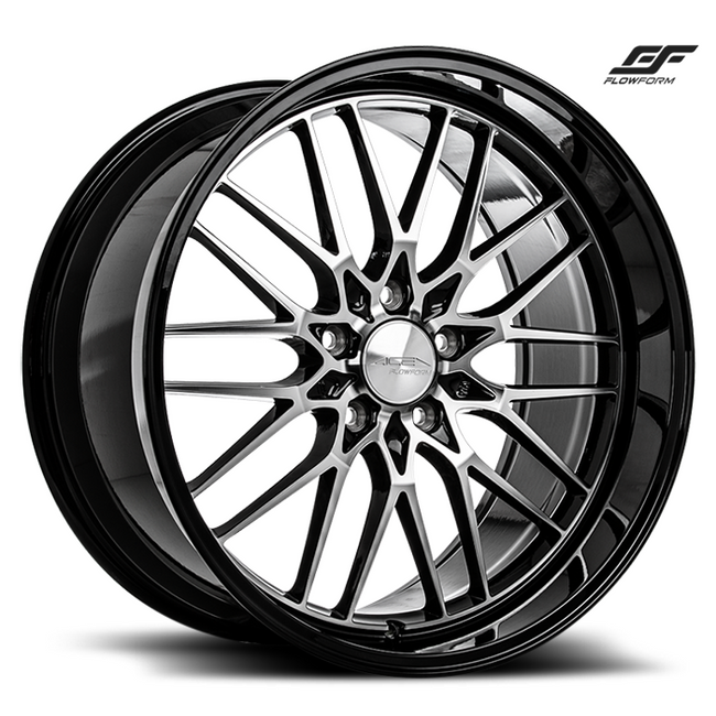 ACE ALLOY AFF04 - Gloss Black w/ Machined Face Black Lip