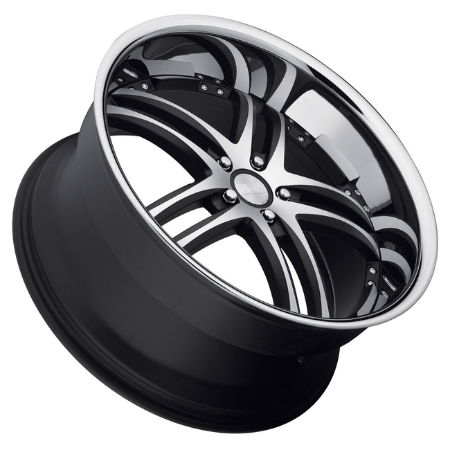 CONCEPT ONE RS-55 - Matte Black Machined Chrome Lip