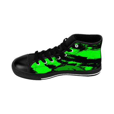 GREEN BASH - Men's High-top Sneakers - Mr. Michael's Clothing
