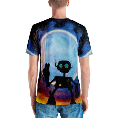 Peace Robot From Space - Men's T-shirt - Mr. Michael's Clothing