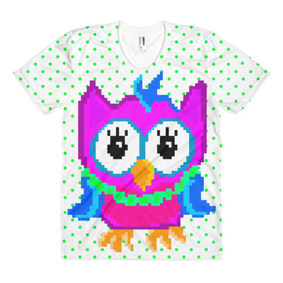 Pixel Punk Owl - Women's Sublimation Tee - Mr. Michael's Clothing