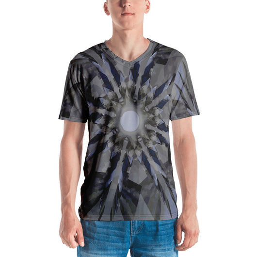 Fractal Men's V-Neck T-shirt - Mr. Michael's Clothing