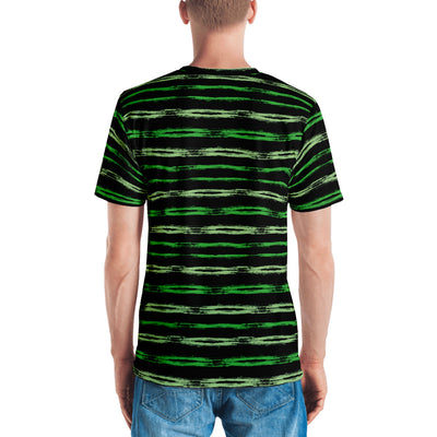 Green's Brush Stripes on Black - Men's T-Shirt - Mr. Michael's Clothing