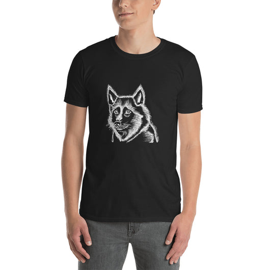 Husky - T-Shirt - Inverted White\Black - Mr. Michael's Clothing