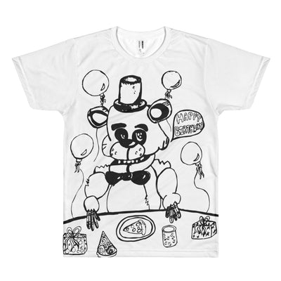 Frazzybear - Men's Sublimation Tee - Mr. Michael's Clothing