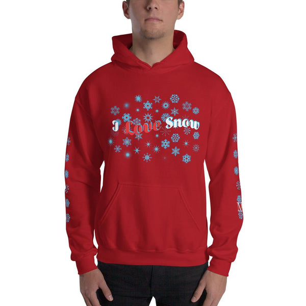 I Love Snow - Unisex - Hooded Sweatshirt - Mr. Michael's Clothing