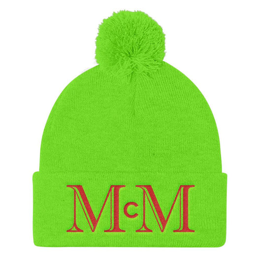 MMC Holiday Snow Hat - GRN/RD - Mr. Michael's Clothing