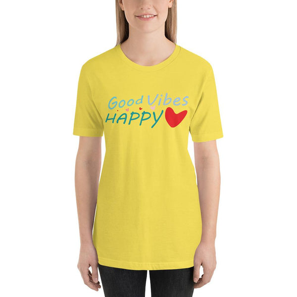 Good Vibes Happy Heart - Woman's T-Shirt - Mr. Michael's Clothing
