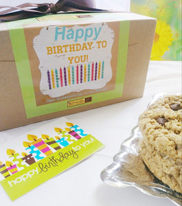 Awesome Oat Cookies Happy Birthday Cookie Gift