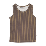 The happy brown stripe tank top