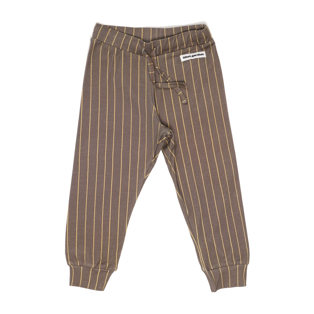 The happy brown stripe joggers