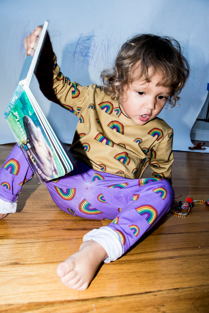 Purple Rainbow Baby Leggings