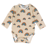 The beige rainbow long sleeve babybody