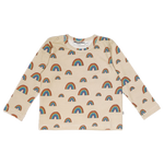 The beige rainbow long sleeve t-shirt