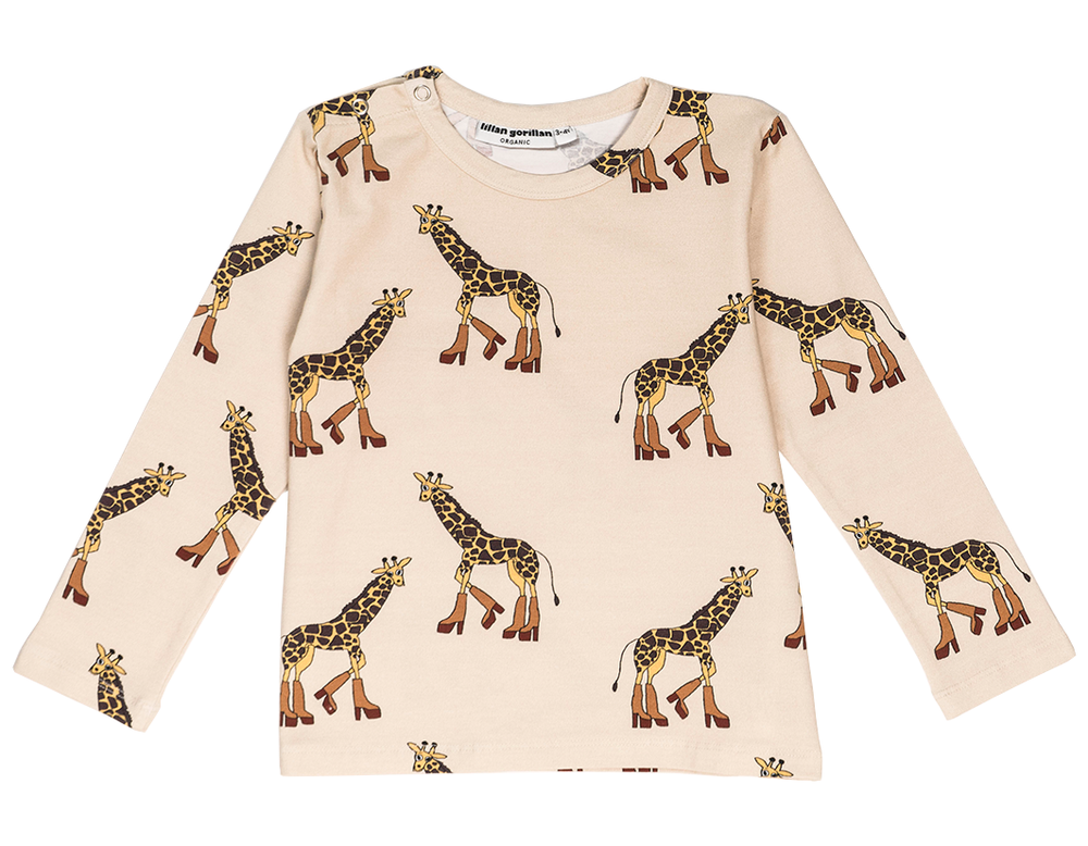 Giraffe Long Sleeve Top