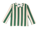 Green Stripe Long Sleeve Top