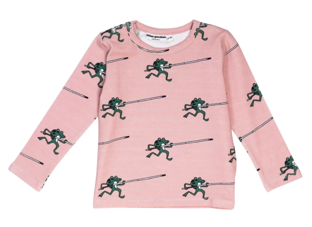 Pink Frog Long Sleeve T-shirt