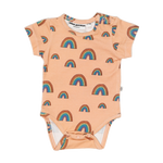 The pink rainbow short sleeve babybody