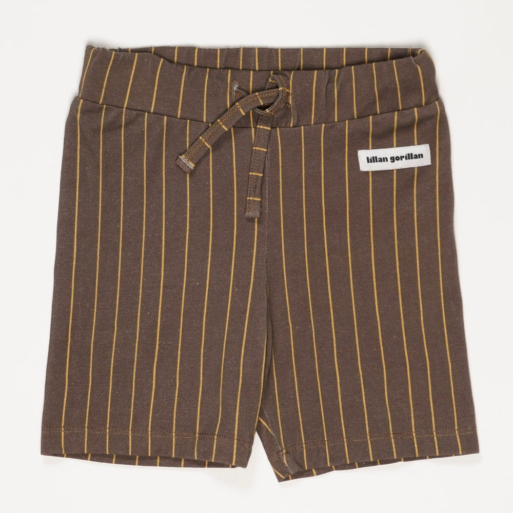 The happy brown stripe jersey shorts