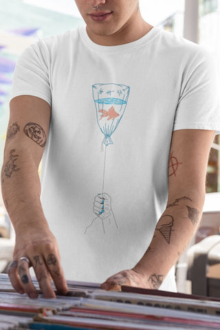Hold it Short-Sleeve Unisex T-Shirt by Tattoo Artist Dane Nicklas