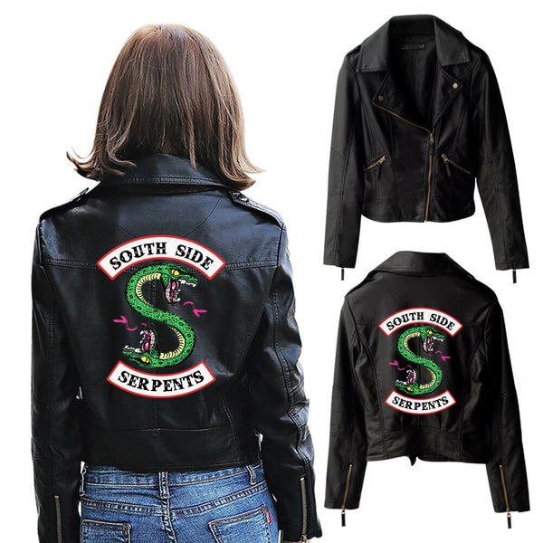 River Valley Leather Jacket Town Viper Snake Leather Jacket Riverdale American Drama Jacket