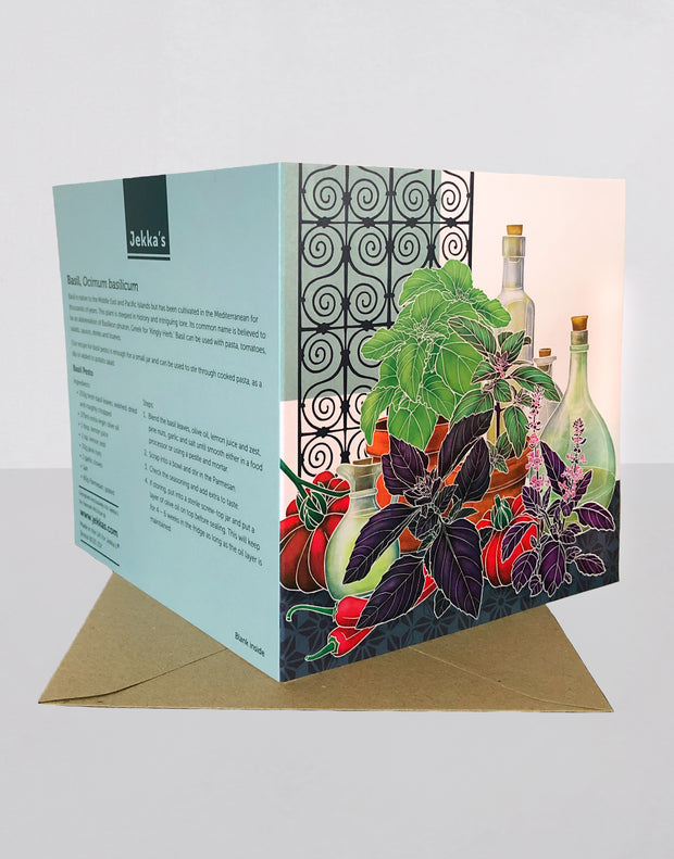 Basil Recipe Greeting Card