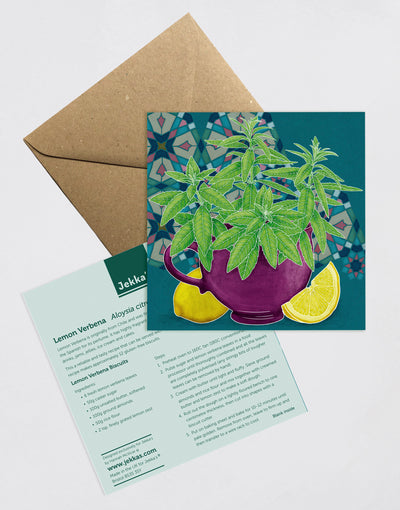 Lemon Verbena Recipe Greeting Card