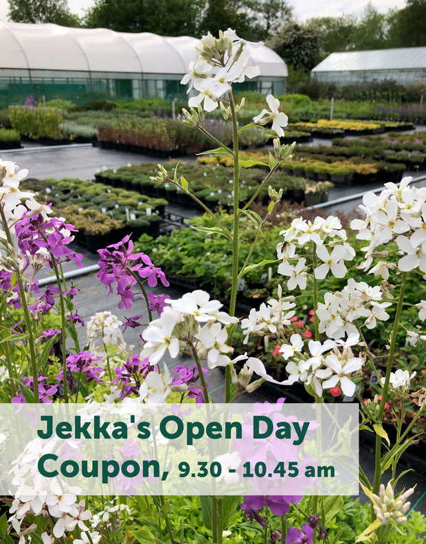 Jekka's Open Day E-Coupons - Saturday 5th June 2021