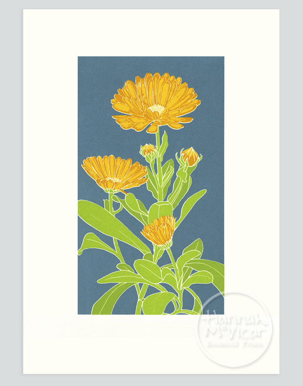 Marigold Screenprint