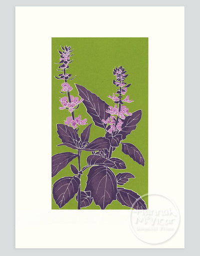 Basil Screenprint