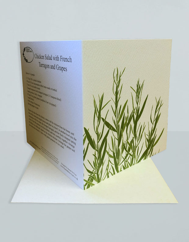 Vintage Tarragon Recipe Greeting Card