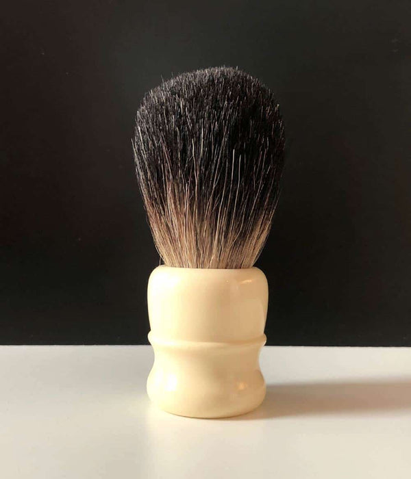 "Pearl Shaving - ""White Matte"" Black Badger"